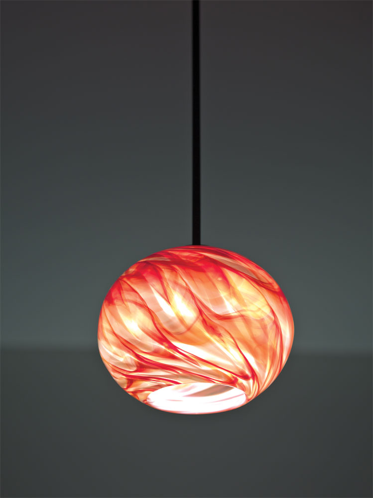 Shown  with Red Hot glass selection.