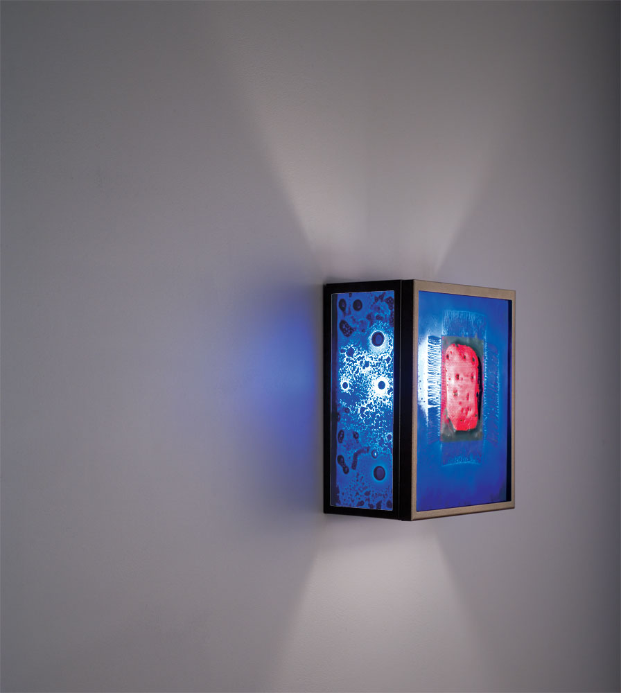 Shown  in Bronze with Red Window Blue glass selection.