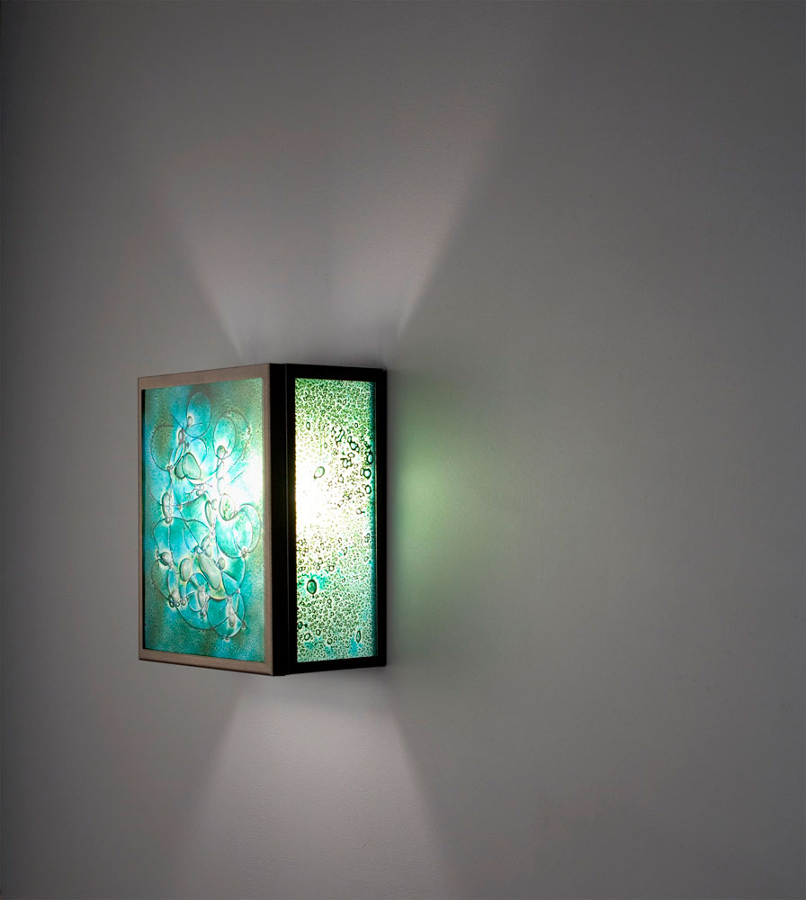 Shown  in Bronze with Wired Green glass selection.
