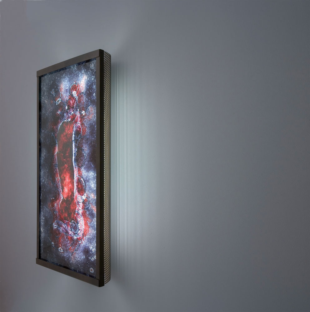 Shown  in Bronze with Wired Rose glass selection.