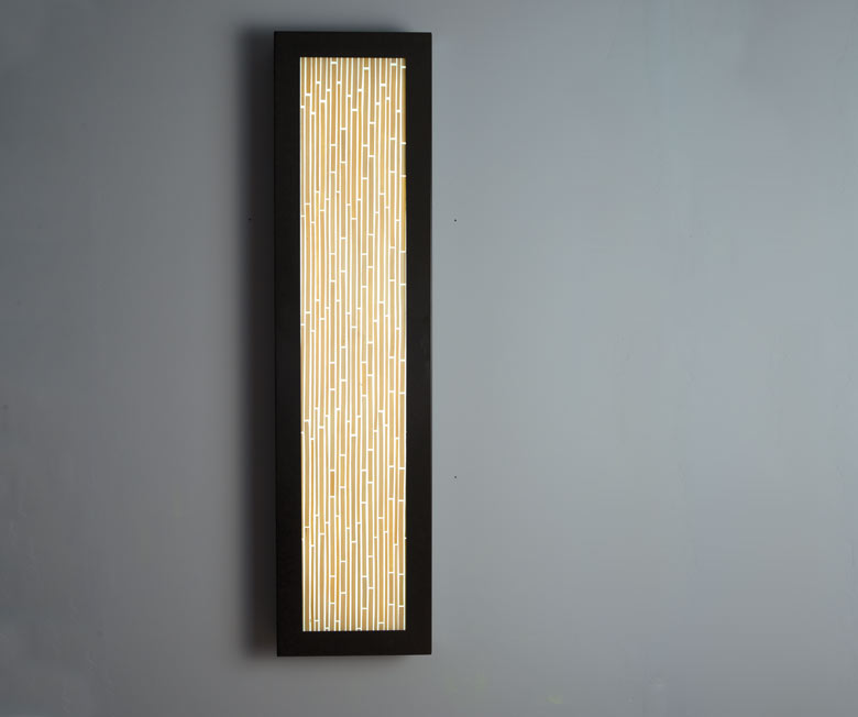 Shown in Bronze with Structured Bamboo diffuser